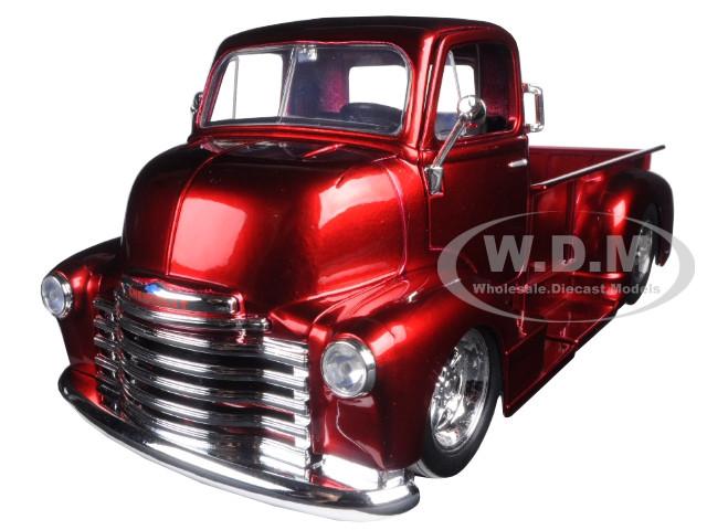 1952 Chevrolet COE Pickup Truck Red with Chrome Wheels 1/24 Diecast Model Jada 97460