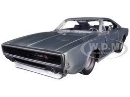 "Dom's 1970 Dodge Charger R/T Bare Metal ""Fast & Furious 7"" Movie 1/24 Diecast Model Car Jada 97336"