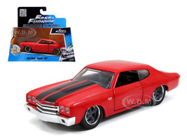 "Dom's Chevrolet Chevelle SS Red ""Fast & Furious"" Movie 1/32 Diecast Model Car Jada 97380"