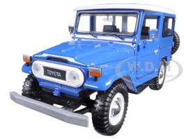 Toyota FJ40 Blue 1/24 Diecast Model Car Motormax 79323
