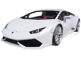 Lamborghini Huracan LP610-4 Bianco Icarus Metallic White 1/18 Model Car Autoart 74602