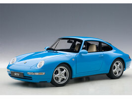 1995 Porsche Carrera 911 993 Riviera Blue Metallic 1/18 Diecast Model Car Autoart 78133