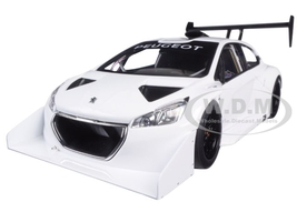 2013 Peugeot 208 T16 Pikes Peak Race Car Plain White Version 1/18 Model Car Autoart 81355