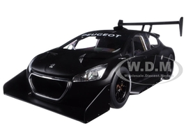 2013 Peugeot 208 T16 Pikes Peak Race Car Plain Black Version 1/18 Model Car Autoart 81356