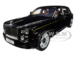 Rolls Royce Phantom Extended Wheelbase Diamond Black 1/18 Diecast Model Car Kyosho 08841