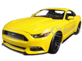 2015 Ford Mustang GT 5.0 Yellow 1/18 Diecast Model Car Maisto 31197