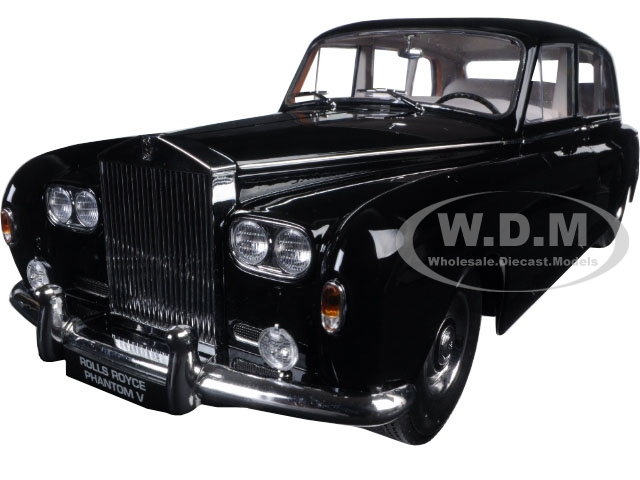 1964 Rolls Royce Phantom V MPW Black 1/18 Diecast Model Car Paragon 98213