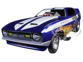 1971 Ford Mustang Blue Max Richard Tharp Funny Car Limited Edition to 750pcs 1/18 Model Car Autoworld AW1171