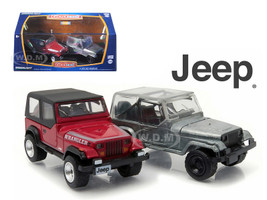 1987-95 Jeep Wrangler YJ Hobby Only Exclusive 2 Cars Set 1/64 Diecast Model Cars Greenlight 29822