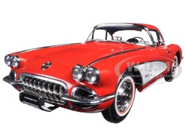 1958 Chevrolet Corvette Signet Red 1/18 Diecast Model Car AutoArt 71148