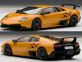 Lamborghini Murcielago LP670-4 SV Arancio Atlas/Orange 1/43 Diecast Model Car Autoart 54627