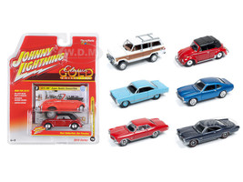 Classic Gold release 1 Set A Set of 6 cars 1/64 Diecast Model Cars Johnny Lightning JLCG001-A