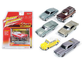 Classic Gold release 1 Set B Set of 6 cars 1/64 Diecast Model Cars Johnny Lightning JLCG001-B