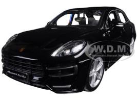 Porsche Macan Turbo Black 1/24 Diecast Model Car BBurago 21077
