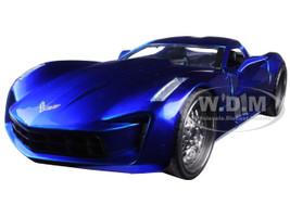 2009 Chevrolet Corvette Stingray Concept Blue 1/24 Diecast Model Car Jada 97468