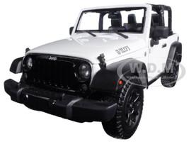 2014 Jeep Wrangler Willys White 1/18 Diecast Model Car Maisto 31610