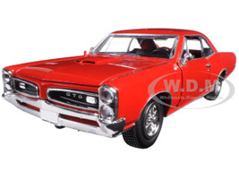 1966 Pontiac GTO Red 1/25 Diecast Model Car New Ray 71853 A