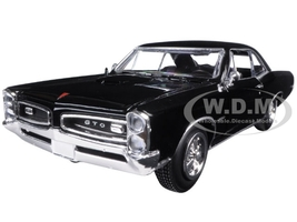 1966 Pontiac GTO Black 1/25 Diecast Model Car New Ray 71853 B