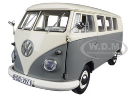 Volkswagen T1 Bus Pearl White/Grey Limited Edition to 1000pcs 1/18 Diecast Model Schuco 450037500