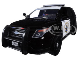 2015 Ford Interceptor Police Utility California Highway Patrol (CHP) Black/White 1/24 Diecast Model Car Motormax 76955