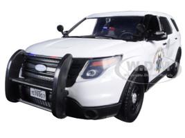 2015 Ford Interceptor Police Utility California Highway Patrol (CHP) White 1/24 Diecast Model Car Motormax 76957