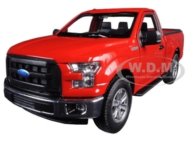 2015 Ford F-150 Regular Cab Pickup Truck Red 1/24 1/27 Diecast Model Car Welly 24063