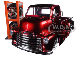 "1952 Chevrolet COE Pickup Truck Red ""Just Trucks"" with Extra Wheels 1/24 Diecast Model Jada 97225"