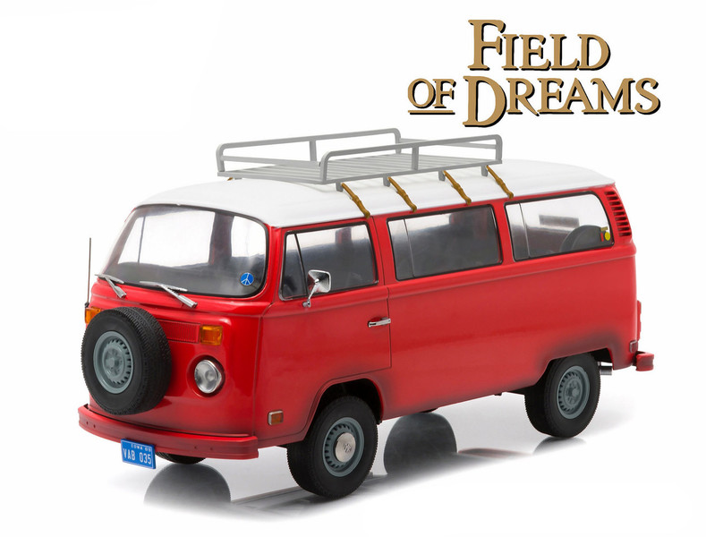 "1973 Volkswagen Type 2 Bus (T2B) ""Field of Dreams"" Movie (1989) 1/18 Diecast Model Greenlight 19010"