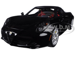 Alfa Romeo 4C Gloss Black 1/18 Model Car Autoart 70184