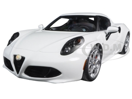 Alfa Romeo 4C Glossy White 1/18 Model Car Autoart 70185