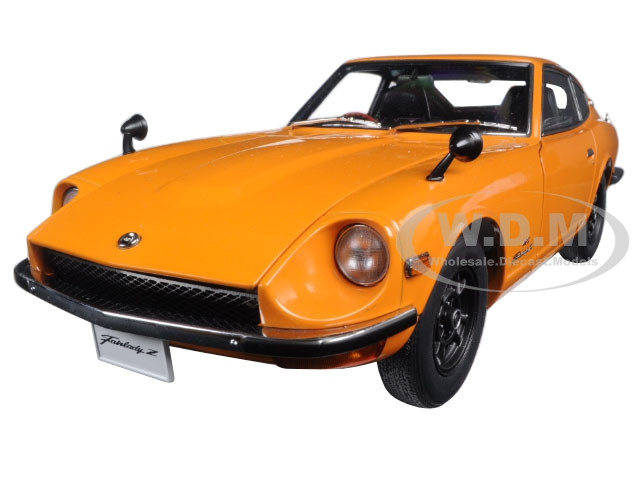 1969 Nissan Fairlady Z432 Ps30 Orange 118 Diecast Car Model By Autoart