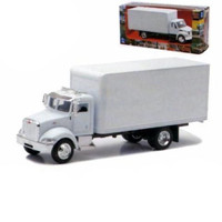 Peterbilt Utility 335 Box Truck White 1/43 Diecast Model New Ray 15803D
