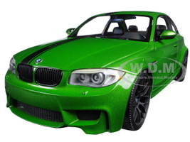 2011 BMW 1 M Coupe Java Green Limited Edition to 504pcs 1/18 Diecast Model Car Minichamps 110020024