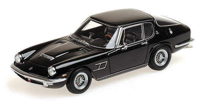 1963 Maserati Mistral Coupe Black Limited Edition to 250pcs 1/18 Model Car Minichamps 107123421