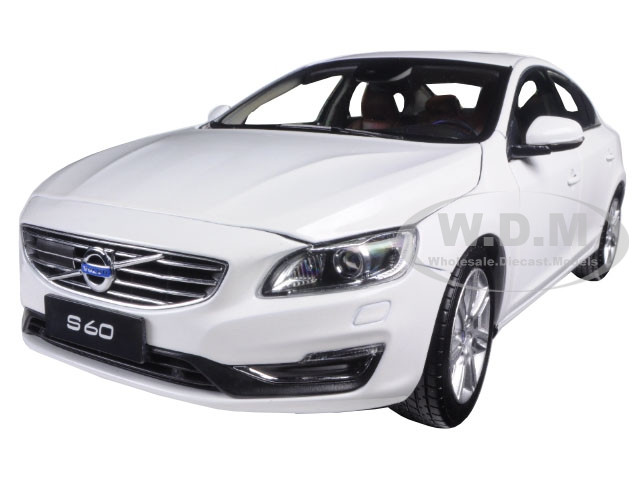 2015 Volvo S60 Crystal White Pearl 1/18 Diecast Model Car Ultimate Diecast 88151