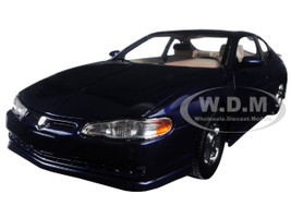 2000 Chevrolet Monte Carlo SS Navy Blue 1/18 Diecast Model Car Sunstar 1986