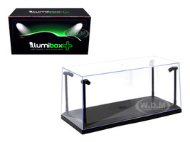 Collectible Display Show Case with LED Lights for 1/18 1/24 Models with Black Base 14001