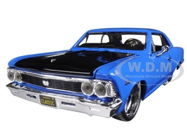 1966 Chevrolet Chevelle SS 396 Blue Classic Muscle 1/24 Diecast Model Car Maisto 31333