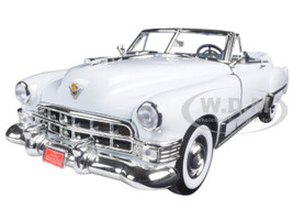 1949 Cadillac Coupe De Ville Convertible White 1/18 Diecast Model Car Road Signature 92308