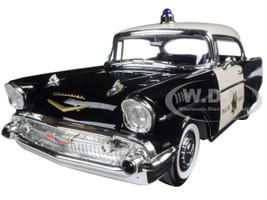 1957 Chevrolet Bel Air Police 1/18 Diecast Model Car Road Signature 92107