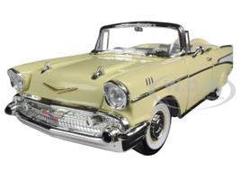 1957 Chevrolet Bel Air Convertible Cream 1/18 Diecast Model Car Road Signature 92108