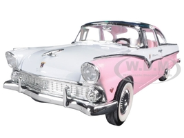1955 Ford Crown Victoria Pink 1/18 Diecast Model Car Road Signature 92138