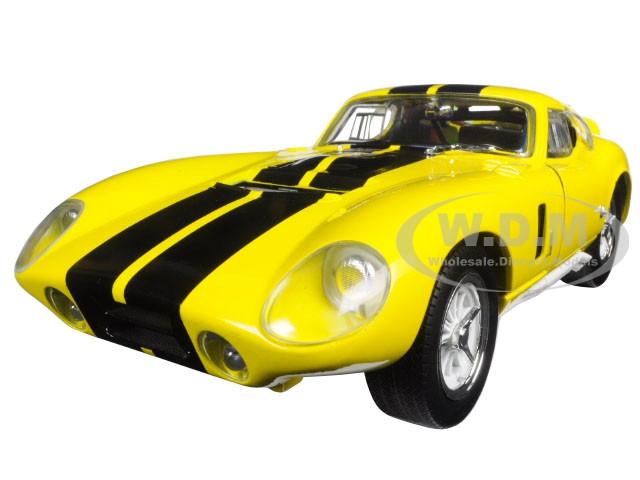1965 Shelby Cobra Daytona Coupe Yellow 1/18 Diecast Model Car Road Signature 92408