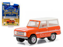 "1976 Ford Bronco Orange ""Explorer Package"" Country Roads Series 14 1/64 Diecast Model Car Greenlight 29830 C"