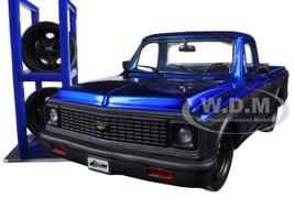 "1972 Chevrolet Cheyenne Blue Pickup Truck ""Just Trucks"" with Extra Wheels 1/24 Diecast Model Jada 97685"