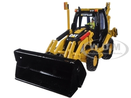CAT Caterpillar 420E Center Pivot Backhoe Loader with Working Tools with Operator Core Classics Series 1/50 Diecast Model Diecast Masters 85143 C