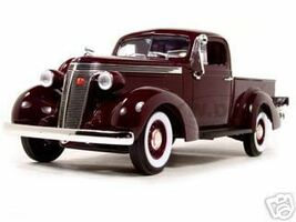 1937 Studebaker Express Pickup Burgundy 1/18 Diecast Model Car Road Signature 92458
