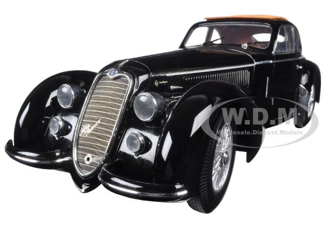 1938 Alfa Romeo Lungo 8C 2900 B Black 1/18 Diecast Car Model Minichamps 100120421