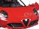 Alfa Romeo 4C Alfa Red 1/18 Model Car Autoart 70189