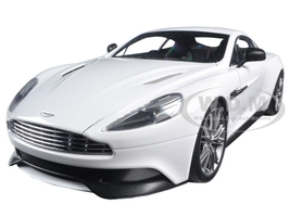 Aston Martin Vanquish Glossy White 1/18 Model Car Autoart 70250